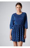 Topshop Denim Wash Smock Dress - Lyst