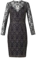 L'Agence Mesh Lace Dress - Lyst
