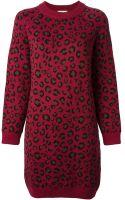 Tak.ori Leopard Print Sweater Dress - Lyst