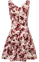 Oscar de la Renta Sleeveless Vneck Crossback Dress - Lyst