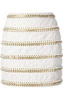 Balmain Floral Lace Skirt - Lyst
