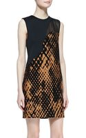 3.1 Phillip Lim Sleeveless Patchwork Shift Dress - Lyst