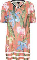 River Island Orange Floral Print Mesh T-shirt Dress - Lyst