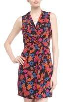Greylin Pleated Floralprint Surplice Dress - Lyst