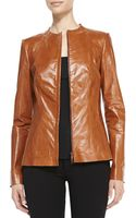 Lafayette 148 New York Yelena Zipfront Leather Jacket - Lyst