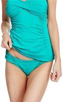 Robin Piccone Olivia Shirred Side Tab Swim Hipsters - Lyst