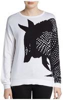 Tibi Armadillo Intarsia Sweater - Lyst