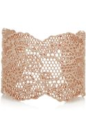 Aurelie Bidermann Vintage Lace Rose Goldplated Cuff - Lyst