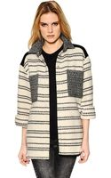 Iro Striped Patchwork Wool Blend Jacket - Lyst