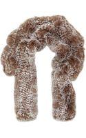 Annabelle New York Rex Rabbit Fur Scarf - Lyst