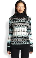 Emilio Pucci Sequined Wool Fair Isle Sweater - Lyst