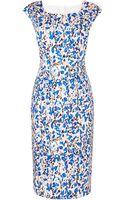LK Bennett Valdez Print Cotton Shift Dress - Lyst