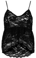 Topshop Womens Scallop Lace Cami Black - Lyst