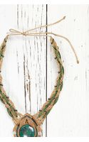 Free People Vintage Green Stone Necklace - Lyst