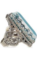 Konstantino Faceted Turquoise Rock Crystal Doublet Ring - Lyst