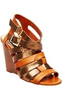 Steven By Steve Madden Midori Leather Wedge Sandals - Lyst