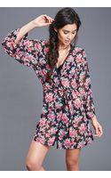 Forever 21 Sheer Floral Print Kimono - Lyst