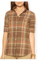 Ralph Lauren Lauren Petites Plaid Shirt - Lyst