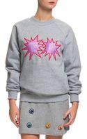 House Of Holland Glitter Starburst Sweatshirt - Lyst