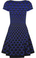Diane Von Furstenberg Moon Jacquard Skater Dress - Lyst