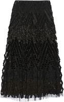 Donna Karan New York Embellished Tulle Midi Skirt - Lyst