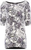 Mary Portas Desert Flower Silk Mix Tee - Lyst