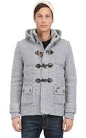 Bark New Short Wool Blend Duffle Coat - Lyst