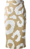 Vivienne Westwood Anglomania Pixelated Leopard Print Skirt - Lyst