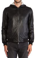 Marc By Marc Jacobs Leather Hoodie - Lyst
