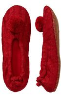 Old Navy Cable-knit Slippers - Lyst