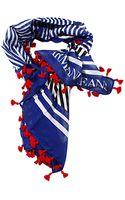Armani Jeans Foulard Kefia Logo Striped - Lyst
