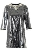 Dolce & Gabbana Crystal and Sequin-embellished Dress - Lyst