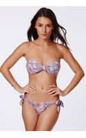 Missguided Dilan Floral Twist Bandeau Bikini - Lyst
