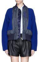 Sacai Windbreaker Front Zip Up Cardigan - Lyst