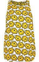 River Island Yellow Daisy Print Button Back Shell Top - Lyst