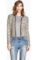 H&M Jacket in Bouclé Yarn - Lyst