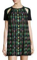M Missoni Knit Cutout Short-sleeve Dress - Lyst
