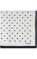 Drake's Silk Polka Dot Pocket Square - Lyst