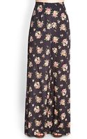 Forever 21 Rose Print Wideleg Trousers - Lyst