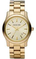 Michael Kors Ladies Goldtone Stainless Steel Watch - Lyst