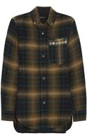 Isabel Marant Milane Embellished Plaid Linen and Woolblend Shirt - Lyst