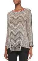 Nic+zoe Tonal Waves Knit Top - Lyst