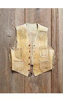 Free People Vintage Leather Fringe Vest - Lyst
