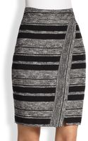 L'Agence Tribal Stripe Wrap Skirt - Lyst