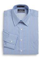 Saks Fifth Avenue Black Label Classic-fit Striped Dress Shirt - Lyst