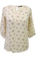 Sugarhill Daisy Print Lace Back Top - Lyst