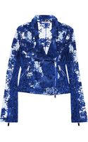 Christopher Kane Lace Biker Jacket - Lyst