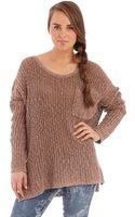 Free People Loose Knit Sweater - Lyst