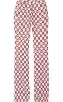 Isabel Marant Mendel Printed Crepe Pants - Lyst