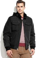 Tommy Hilfiger Hooded Bomber Jacket - Lyst